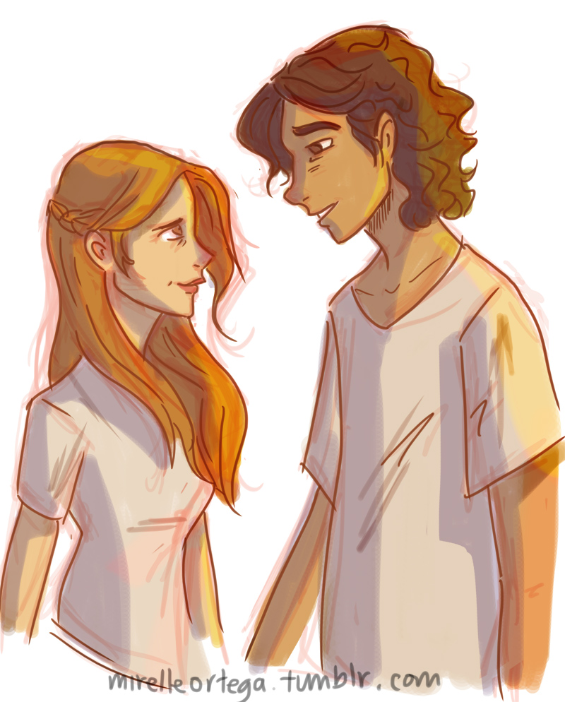Leo and Calypso by illustrationrookie
