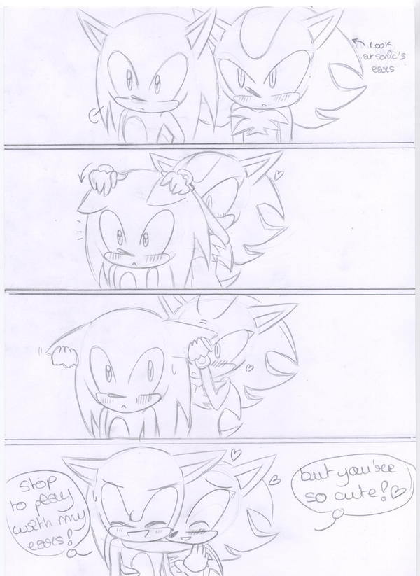 Sonadow comic : Shadow plays by kiiyup0p