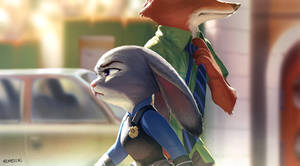 Tipped past Nick and Judy.