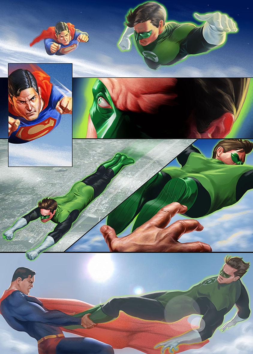 Superman vs green lantern - photo#15