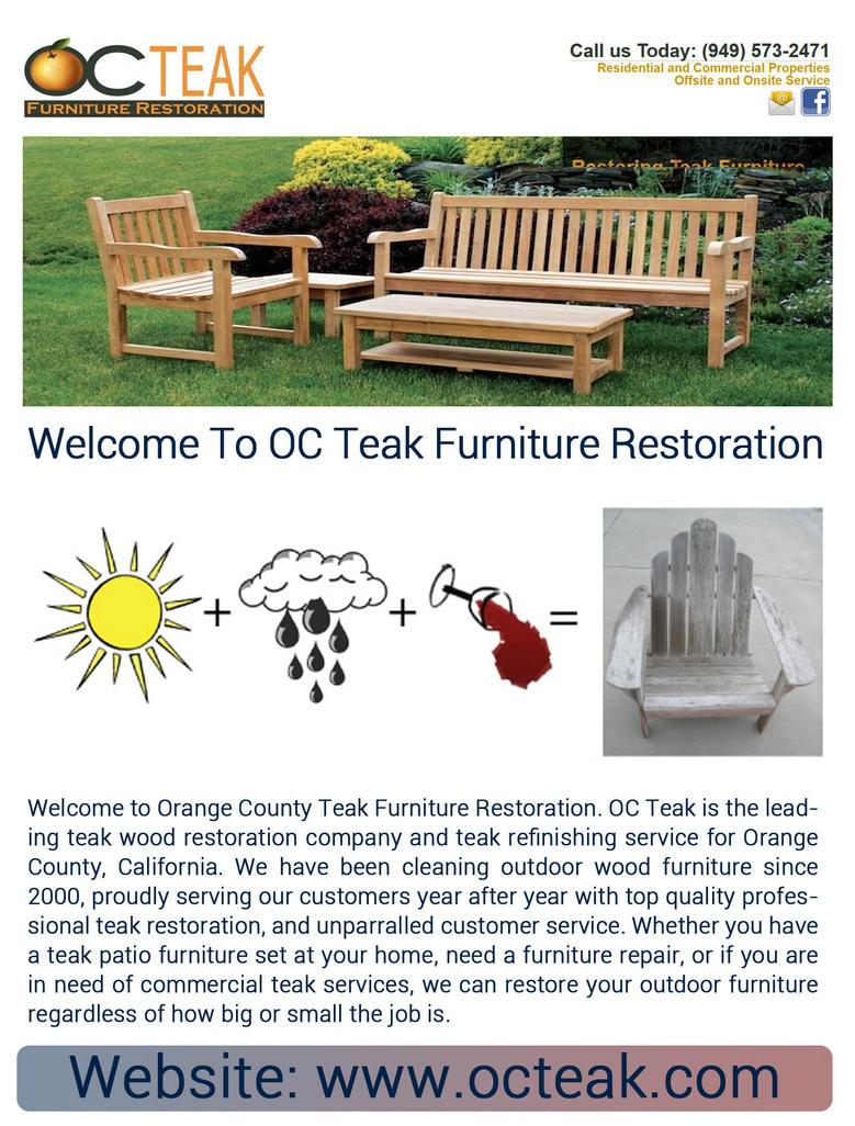 Teak Furniture Restoration By Octeak ...