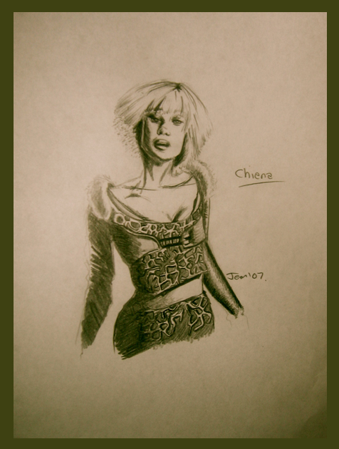 Farscape Sketch - Chiana by jeminabox
