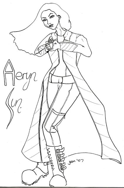 Farscape Doodling - Aeryn Sun by jeminabox