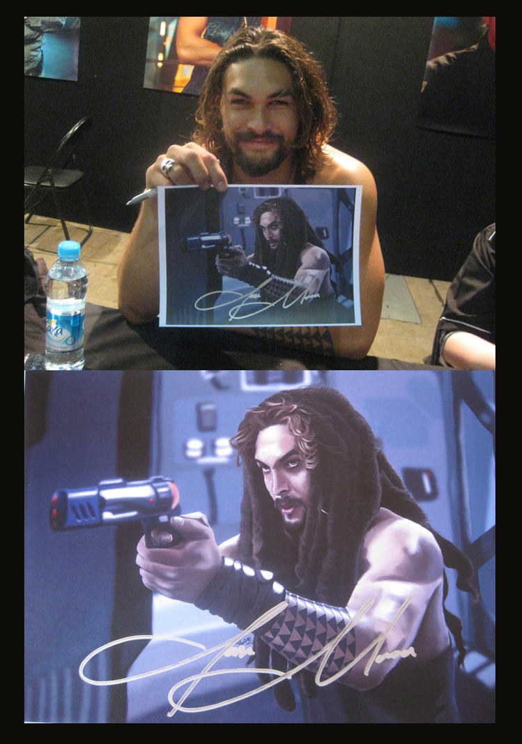 Jason Momoa and Painting by jeminabox