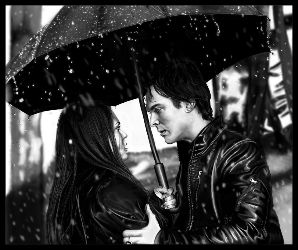 Vampire Diaries - Damon-Elena by jeminabox