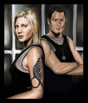 BSG: Starbuck and Helo