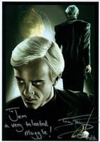 Tom Felton Signed Painting by jeminabox