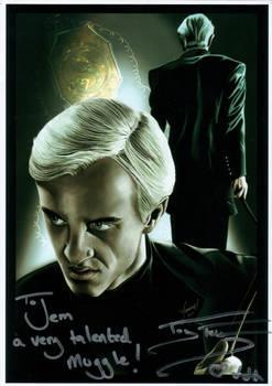 Tom Felton Signed Painting