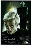 Tom Felton Signed Painting