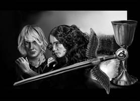 Mortal Instruments: Clary+Jace by jeminabox