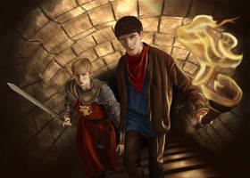 Merlin and Arthur by jeminabox