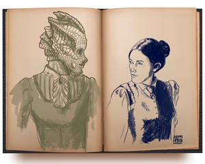 Sketch: DW Madame Vastra + Jenny