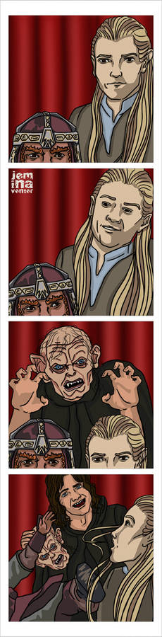 Photo Booth: Legolas + Gimli