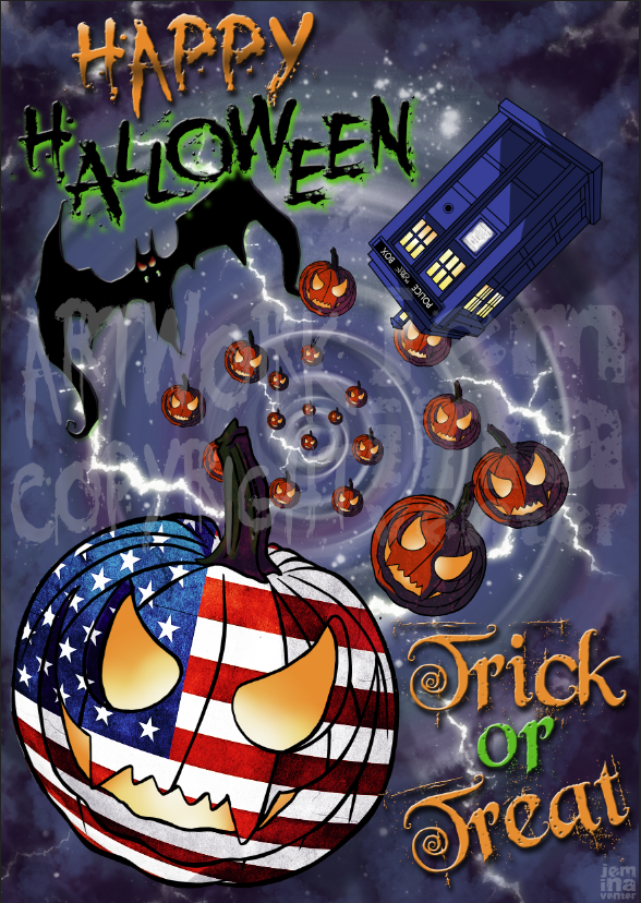 Commission: Halloween Poster by jeminabox