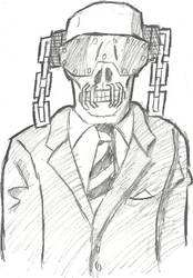 Vic Rattlehead Sketch by MetalHeadFan2500