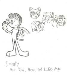 Mobian Snoopy, Ace Pilot by MetalHeadFan2500