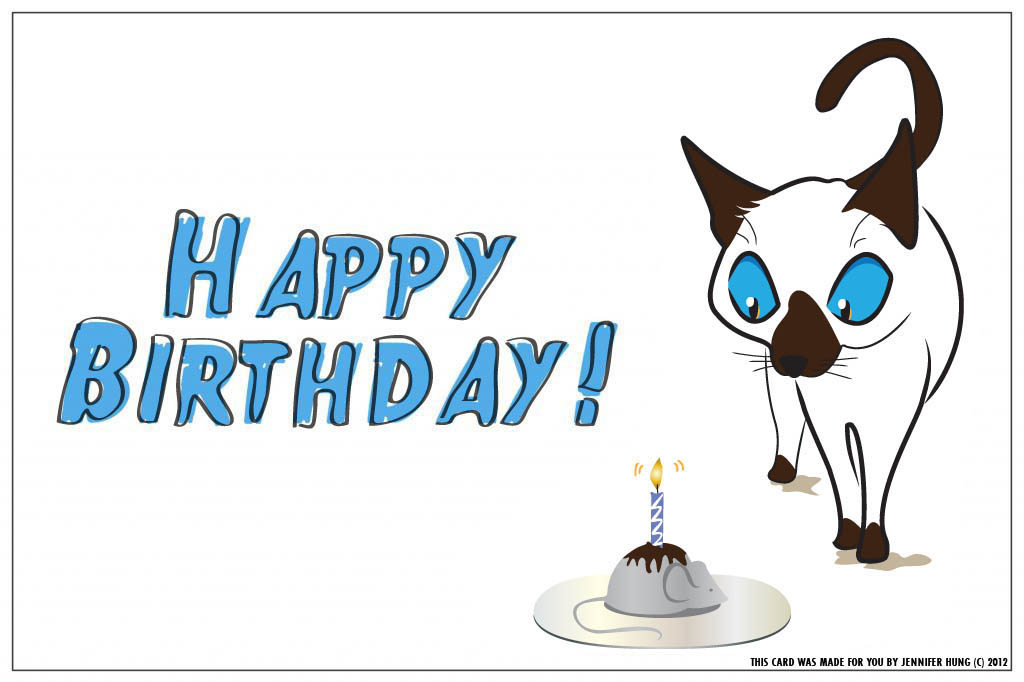 Watch more like Siamese Cats Birthday Cards – Happy Birthday from the Cat Card