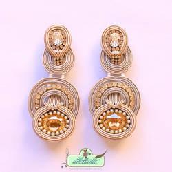 One of a kind Original Swarovski Soutache Earrings by DILETTANTEsoutache