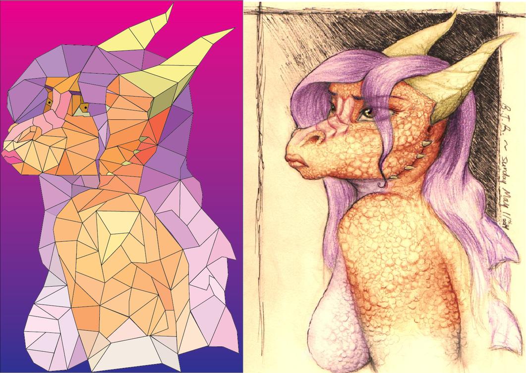 Ilda Cubist Rendition by TheDepressionBusines