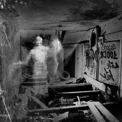 a ghost in the mirror