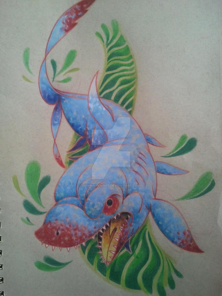 oooo Shark by Jimmypencils