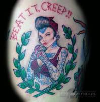 beat it creep! tough girl by Rudeboytattoo
