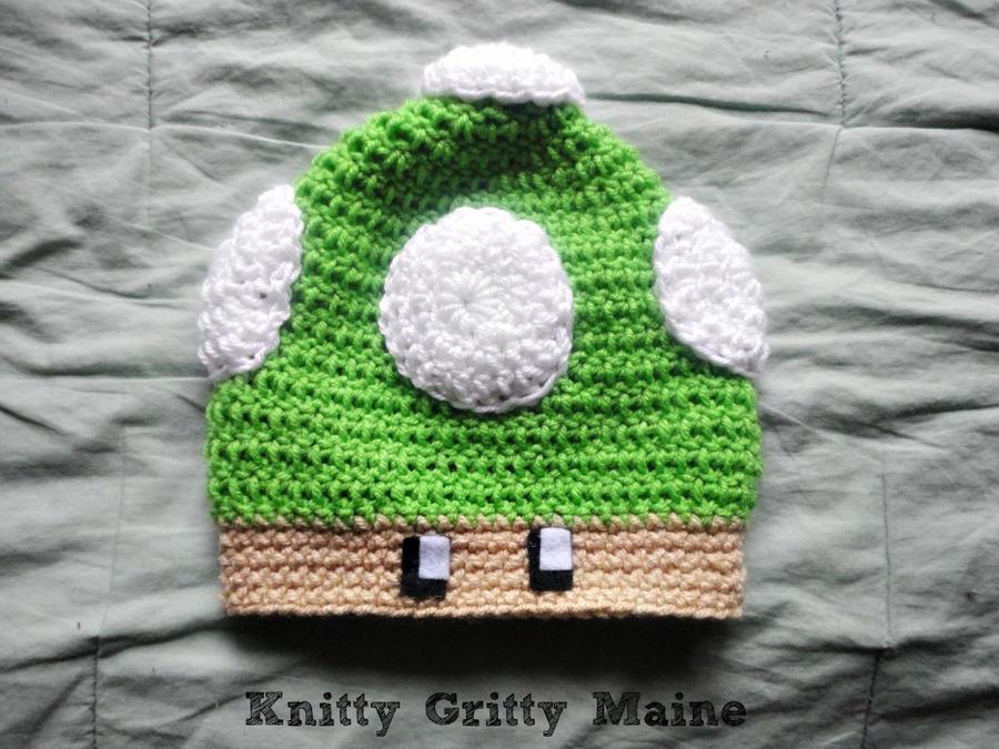 Crochet Pattern Mario Hat : Crochet Nintendo Mario Mushroom Beanie Hat by ...