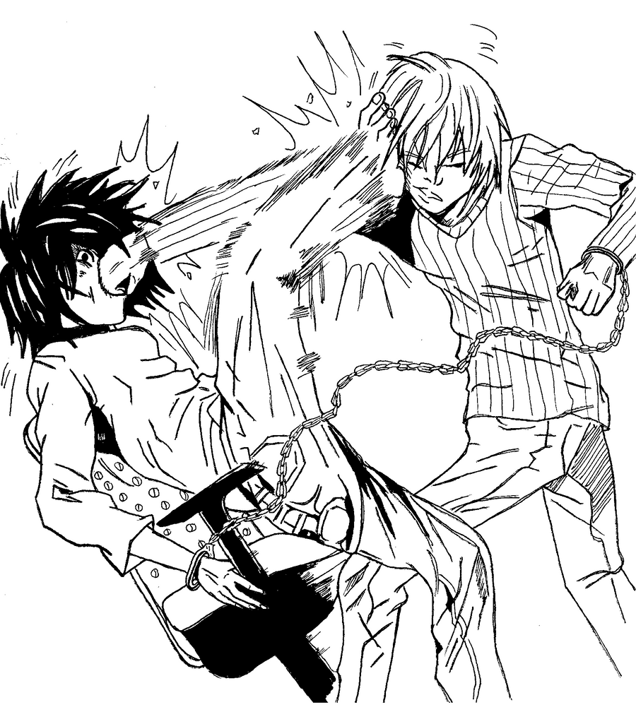 Fight in black and white by ryusanee