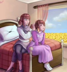 [Commission] Mother and Daughter by Elluxy