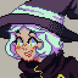 [OC Pixel Art] Witchy Portrait