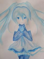 Water Colour - Hatsune Miku by SCvanAlphen