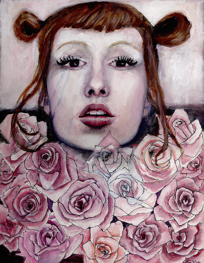self portrait in roses