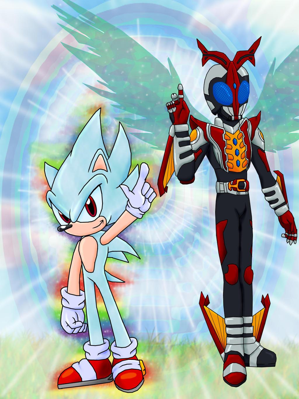 Kamen Rider Kabuto Hyper Form and Hyper Sonic by FerroKivaKamen Rider Kabuto Hyper Form