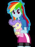 Rainbow Dash and Cream Puff