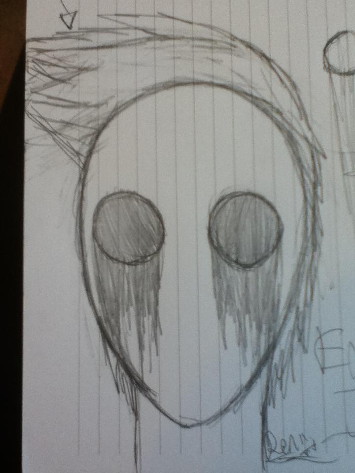 My first attempt at drawing Eyeless Jack by Mizuki-ShiBara