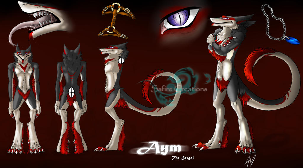 :Commission: Aym The Sergal by SafireCreations