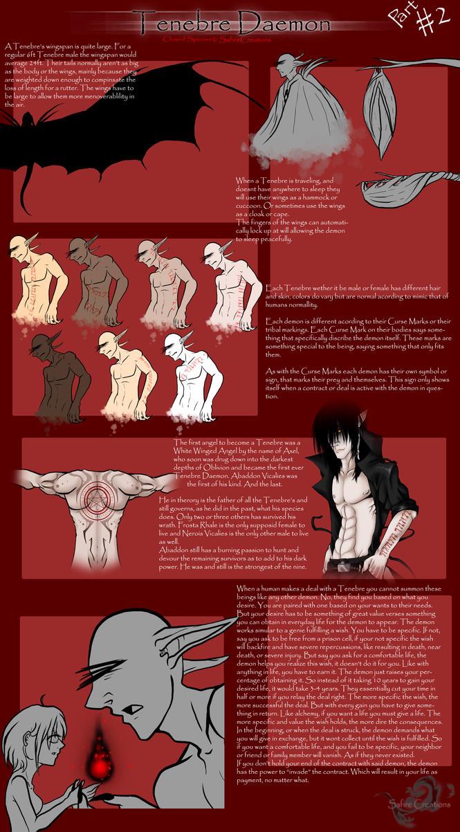Tenebre Daemon |Species Information| Pt.2 by SafireCreations