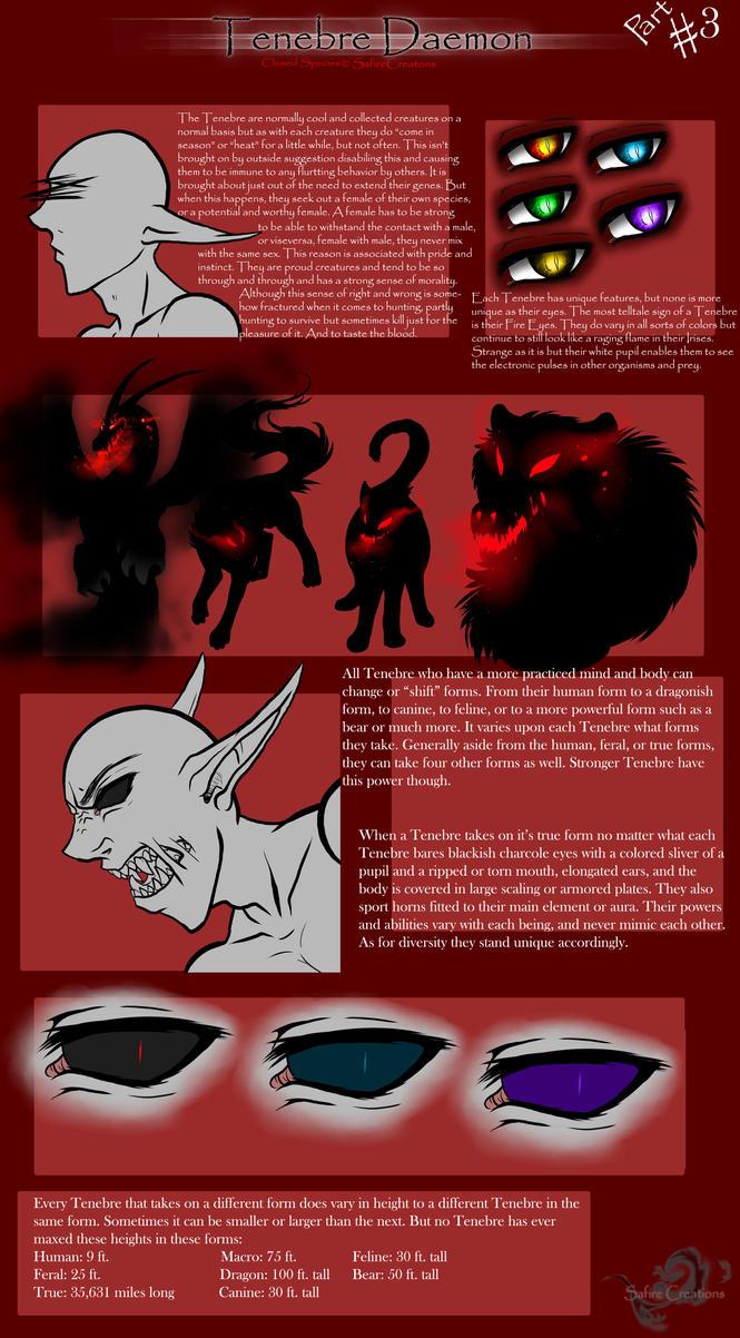 Tenebre Daemon  Species Information  Pt.3 by SafireCreations