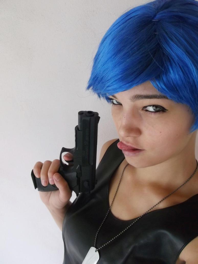Blue wig - non cosplay by Esarina