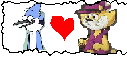 Mordecai X Top Cat Stamp by gabiprincess23456802