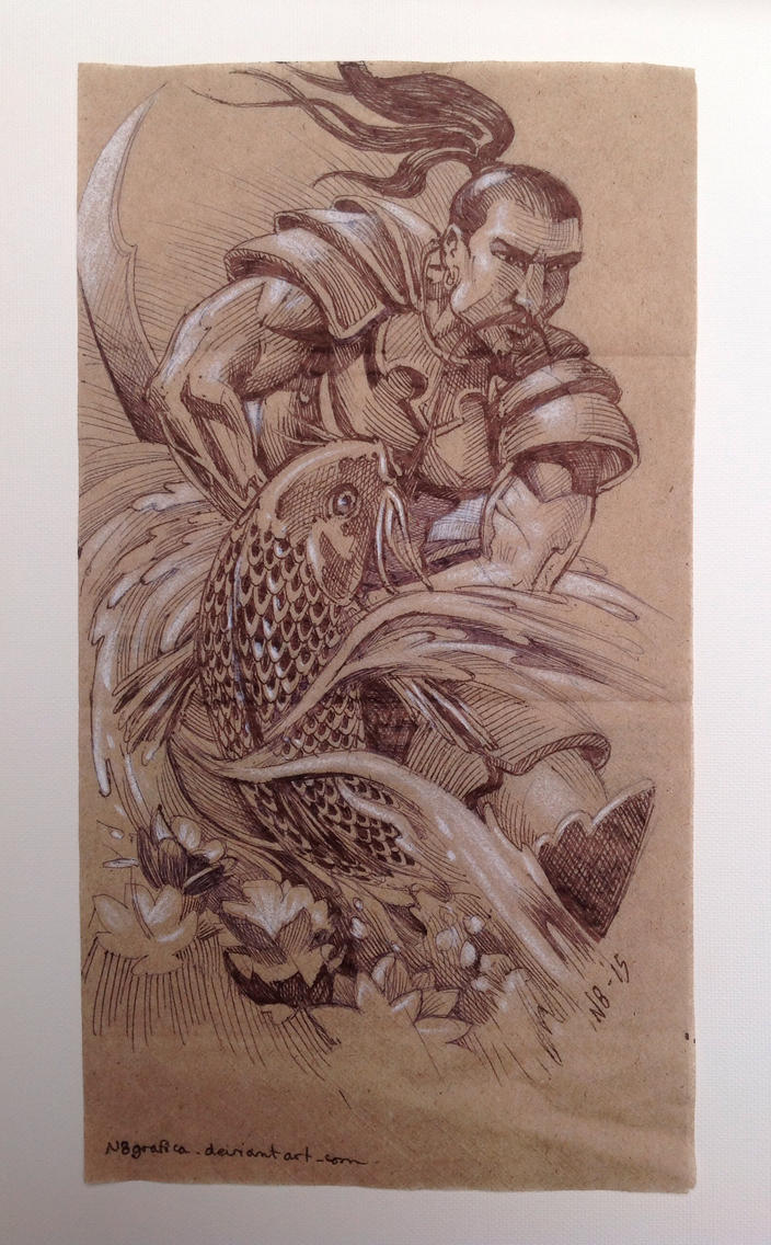 Samurai Napkin by N8grafica