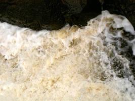 Water against rocks