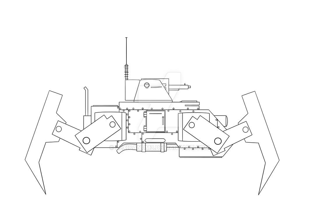 Anti-aircraft walker by Lexicanum3
