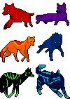 Wolf avatars by RandomeDragon