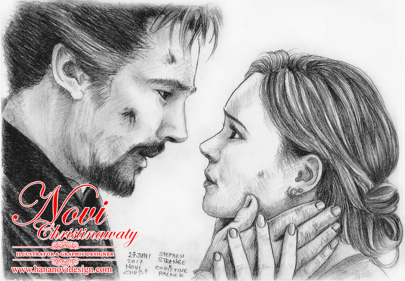 Stephen Strange and Christine Palmer by hananovie