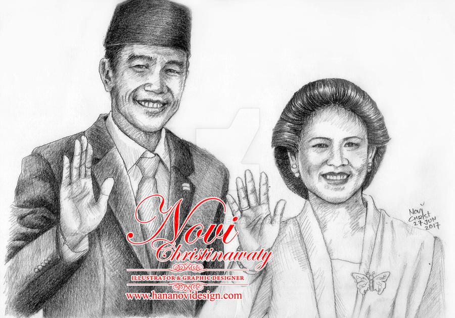 Mr.Joko Widodo and Mrs Iriana - the 7th President by hananovie