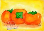 Watercolor - Persimmon