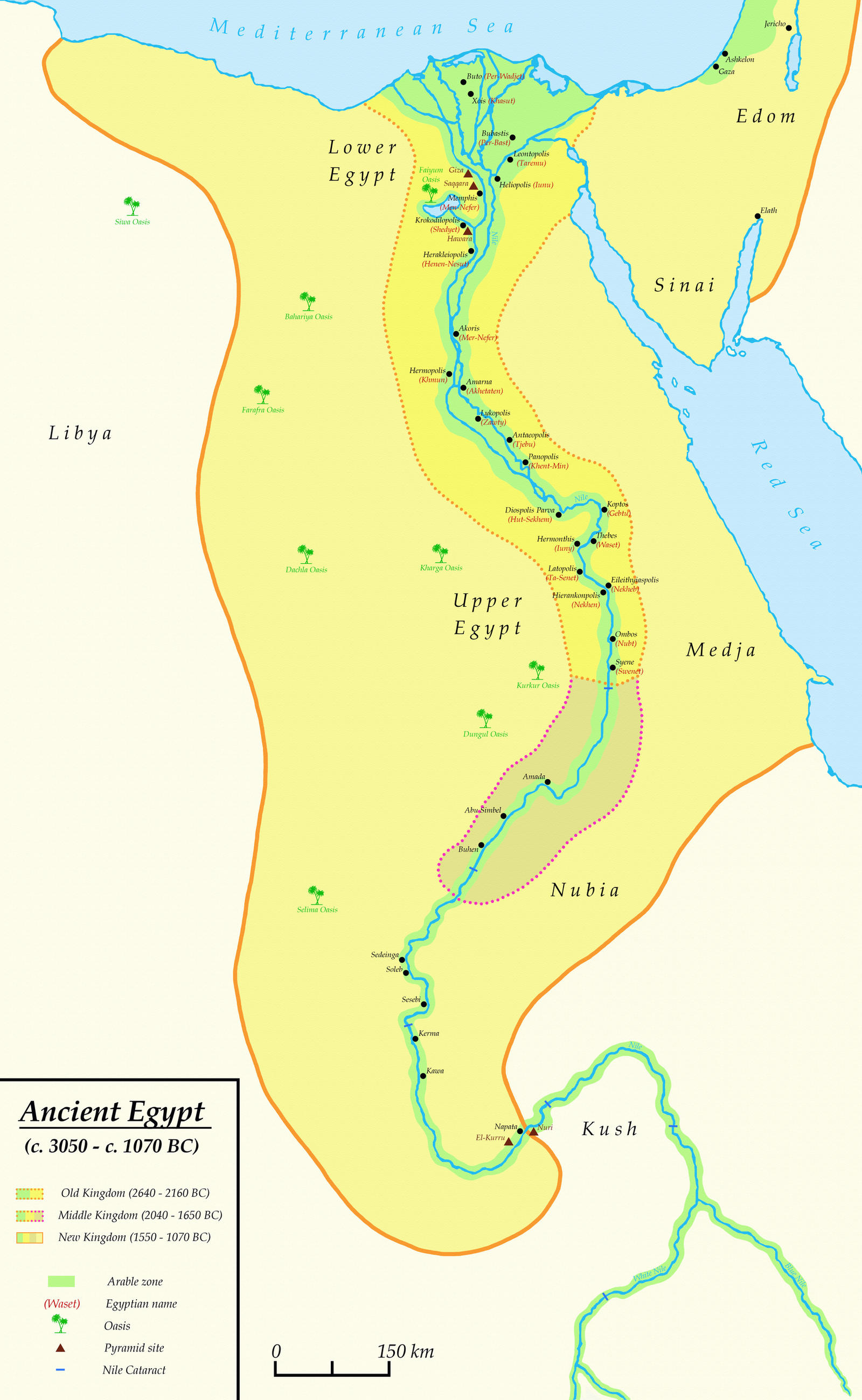 Ancient Egypt C C BC By Undevicesimus On DeviantArt - Map of egypt history