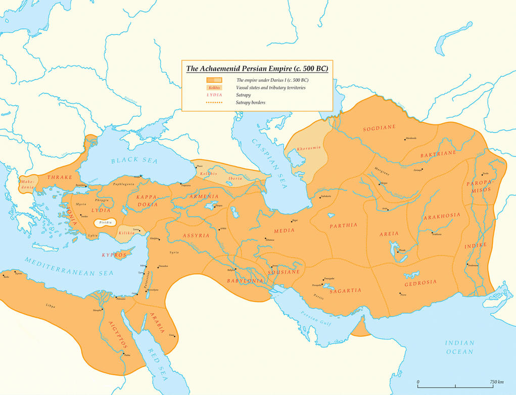 The Achaemenid Persian Empire C 500 Bc By Undevicesimus On Deviantart