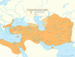 The Achaemenid Persian Empire (c. 500 BC) by Undevicesimus